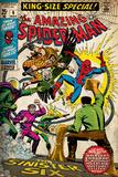 Marvel Comics Retro Style Guide: Spider-Man, Mysterio, Sandman Kunstdrucke