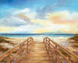 Walk to the Beach Affiches par Nan