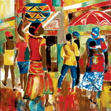 Market Day I Poster by Maria Donovan