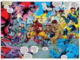 X-Men Forever Alpha No. 1: X-Men No. 2: Psylocke, Wolverine, Gambit, Cyclops, Rogue, Beast Plakat