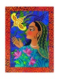 Maharani with Yellow Bird, 2011 Giclee Print by Jane Tattersfield