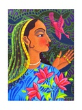 Maharani with Magenta Bird, 2011 Giclee Print by Jane Tattersfield