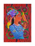 Maharani with Two Birds, 2012 Giclee Print by Jane Tattersfield