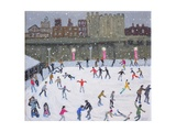 Tower of London Ice Rink, 2015 Giclée-tryk af Andrew Macara