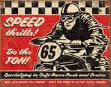 Speed Thrills Plaque en métal