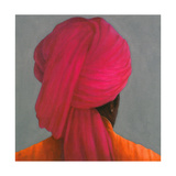 Pink Turban Giclee Print by Lincoln Seligman