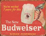 Budweiser The New Placa de lata