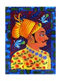 Maharaja with Blue Birds, 2011 Giclee Print by Jane Tattersfield