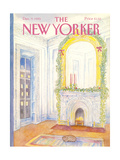 The New Yorker Cover - December 9, 1985 Giclée-Premiumdruck von Iris VanRynbach