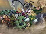 Ultimate SpiderMan - Villains Art Poster