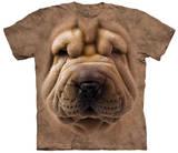 Big Face Shar Pei Puppy T-paita