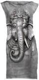 Mini Dress: Big Face Ganesh Minikleid