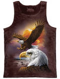 Tank Top: Eagle & Clouds Canotta
