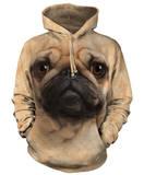Hoodie: Pug Face Hoodie (over het hoofd)