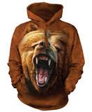 Hoodie: Grizzly Growl Hoodie (over het hoofd)
