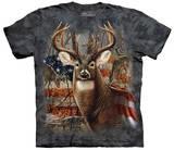 Patriotic Buck Maglietta