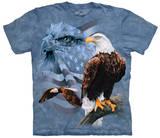 Faded Flag & Eagles T-skjorte