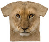 Youth: Big Face Lion Cub Smithsonian Collection Shirts