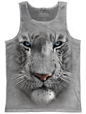 Tank Top: White Tiger Face Trägerhemd