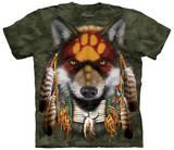 Native Wolf Spirit Magliette