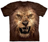 Youth: Big Face Roaring Lion T-Shirts