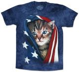 Patriotic Kitten T-skjorte