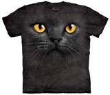 Big Face Black Cat T-Shirts