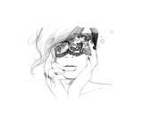 Masked Giclee-trykk av Jessica Durrant