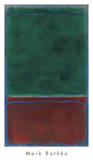 No. 7 (Green and Maroon), 1953 Poster di Mark Rothko