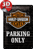 Harley-Davidson Parking Only Carteles metálicos