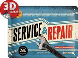 Service & Repair Metalen bord