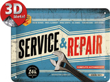 Service & Repair Tin Sign