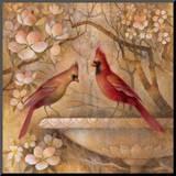 Elegance in Red II Impressão montada por Elaine Vollherbst-Lane