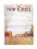The New Yorker Cover - November 25, 1974 Premium Giclee Print by James Stevenson