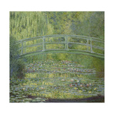 The Waterlily Pond and the Japanese Bridge Giclée-tryk af Claude Monet