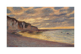 Pointe De L'Ailly at Low Tide, 1882 Giclee Print by Claude Monet