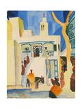 View of a Mosque Giclée-Druck von August Macke