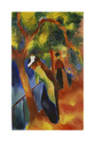 Sunny Path, 1913 Reproduction procédé giclée par August Macke