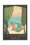 Poster Advertising Lago Di Garda, Riva, C. 1926 Lámina giclée por Antonio Simeoni