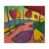 Landscape, Murnau, 1909 Giclee-trykk av Alexej Von Jawlensky