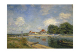 At the Barrage of Loing Near St, Mammes, 1885 Giclee Print by Alfred Sisley