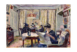Bridge Players (Le Partie De Bridge), Ca. 1911 Reproduction procédé giclée par Edouard Vuillard
