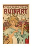"""Werbeplakat Fuer """"Champagne Ruinart"""" Paris, 1897 Giclée-Druck von Alphonse Mucha"""