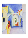 View of an Alley, 1914 Giclée-tryk af August Macke