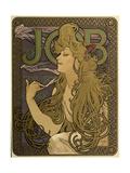 JOB Cigarettes, c. 1897 Giclée-tryk af Alphonse Mucha