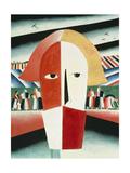 The Head of a Peasant, 1928-30 Giclee-trykk av Kasimir Malevich