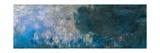 Nymphéas, Paneel a II Lámina giclée por Claude Monet