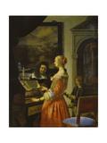 Chamber Music Concert, 1658 Lámina giclée por Frans Van Mieris