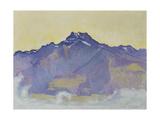 The Dents Du Midi, Viewed from Chesieres, 1912 Reproduction procédé giclée par Ferdinand Hodler