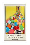 Summer Sales, Quickly Reached by Underground, 1925 Reproduction procédé giclée par Mary Koop